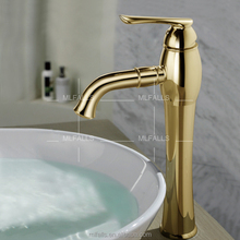 New products Ti-PVD gold plated faucets,deck mount various types of faucets,antique industrial water faucets