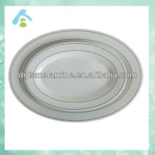 100% melamine oval white dinner plate in 2017
