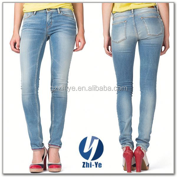 new fashion factory price wholesale ladies skinny jeans