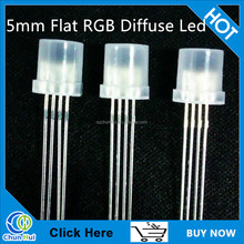 5mm Flat top rgb led diode 4 pins common anode/cathode diodes ( CE & RoHS )