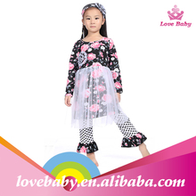 newest design floral baby frock for sale baby cotton clothing design for children matching clothing set for kids