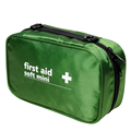 italian nylon mini green medical bag with mesh for travel first aid