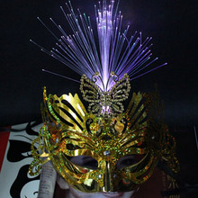PM-439 Factory glowing LED mask Golden flash mask