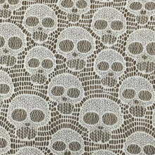 New trendy cheap special design skull lace nylon lace fabric