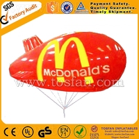 Advertising helium blimp tethered outdoor F2045