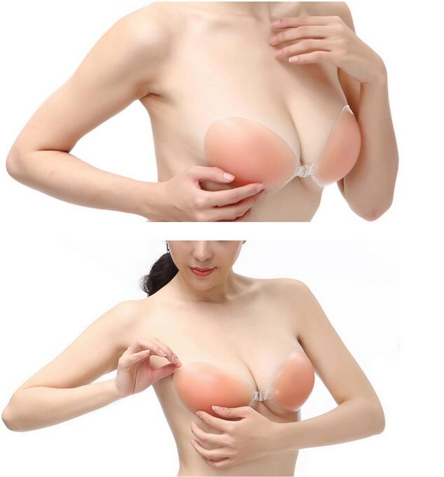 Women 1 pair Sexy Invisible bra Self-Adhesive Strapless Silicone Breast Form Enhancer Bra Size A B C D