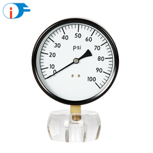 China Manufacturer Direct Sale Dry Bourdon Tube Type Manometer with Black Steel Case