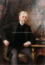 Famous portrait digital print painting on canvas portrait of Gustave Eiffel 1905