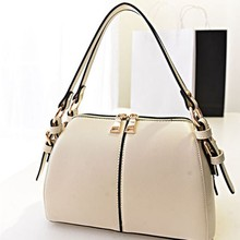 Bz2081 Double zipper PU leather spliced fashion ladies handbags