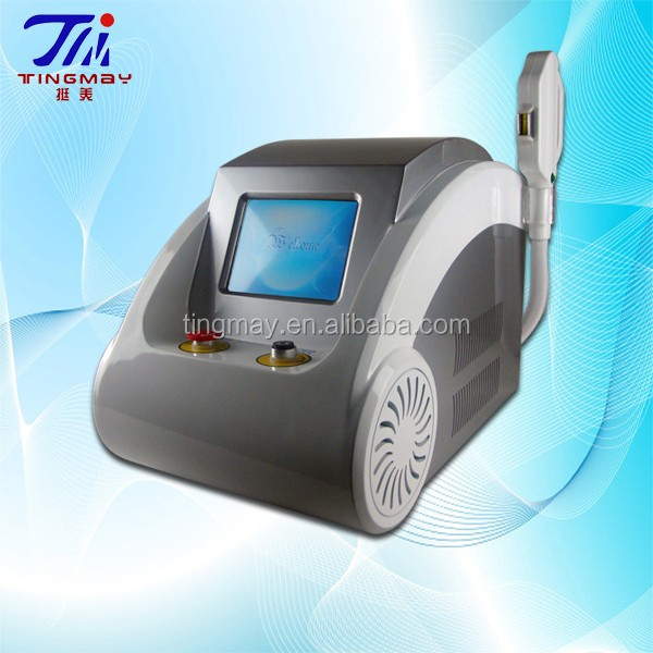 Super result ND YAG laser tattoo removal / opt hair removal machine