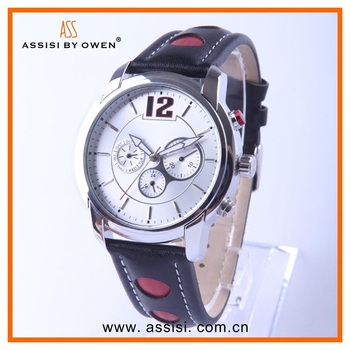 Assisi Latest Antique Noble Watch Leather Wrist Accessory for Men
