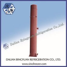 Vertical condenser for block ice maker