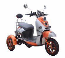 Turtle King 2 Seats Electric Three Wheel Adult Scooter / 3 Wheel Rechargeable Electric Motor Bike