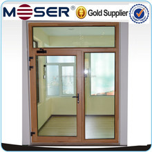 High quality solid wood double glazing fixed and hinged door