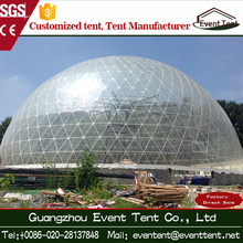 30m Round green house UV resistant geodesic dome tents with strength steel structural