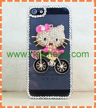 New style Bling rhinestone cell phone PC case for iPhone5s