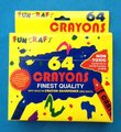 64 color wax crayon