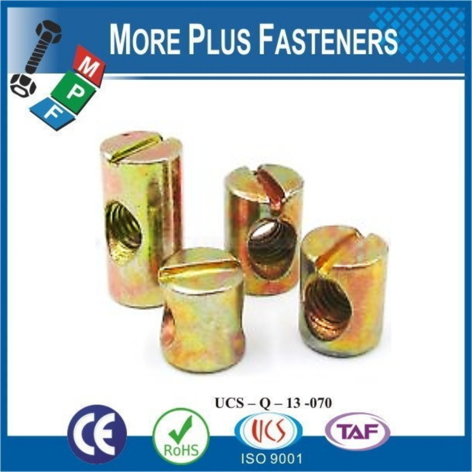 Made in Taiwan Solid Brass Stainless Steel Zinc Plated Cross Dowel Barrel Nut