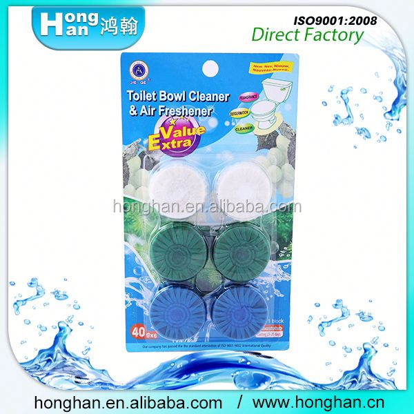 Unique Natural Products Lasting fresh Safe Solid block toilet bowl cleaner air freshener with light