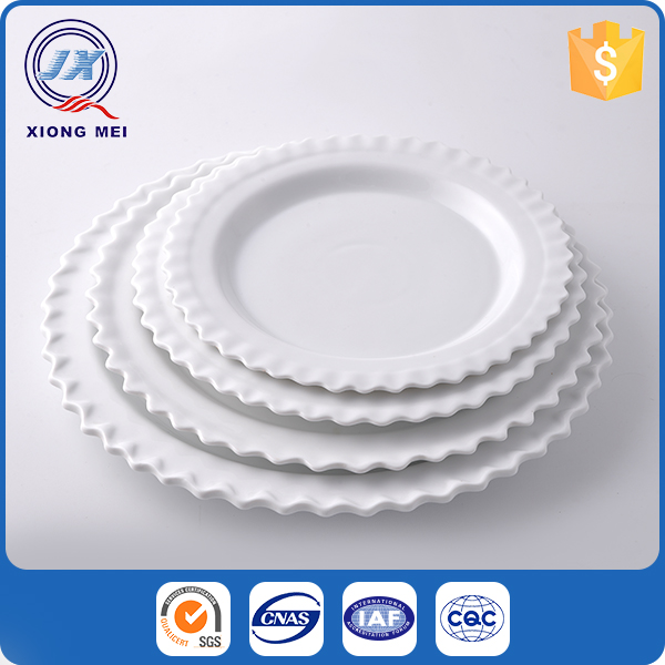 Factory direct luxury dinnerware cheap white dinner plates for party