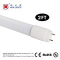 High quality cheap price 85-265V t8 9w ce rohs approved 2ft led tube light