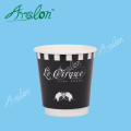 Food grade disposable 10oz double wall coffee paper cups with lids