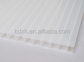 10 year warranty buyer material UV protected twinwall hollow polycarbonate sheet for greenhouse
