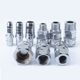 Factory machining stainless steel/brass gas pipe nipple fitting quick hose air connector