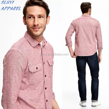 Marled Regular-Fit Shirt Jacket for Men New Model latest shirt designs for men Custom America mens work shirt
