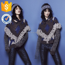 Manufacturer Lastest Fashion Women apparel Fringe Tassel Detail Winter warm Sweater (TF0002B)