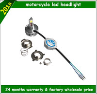 Factory wholesale 4300k 5000k 6000k high low beam universal motorcycle headlights