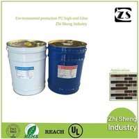 Heat resistant and soft polyurethane tile adhesive for mosaics wall panel