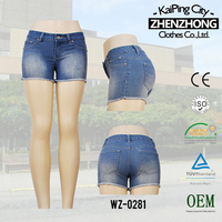 S144444-2-A1 denim jeans shorts for women