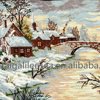 Chefoo Embroidered Tapestry Hand Stitched Cottage
