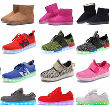 2016 new design factory supply OEM casual shoe with led light