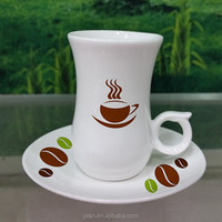 New stylish12pcs turkish tea cup saucer set, ceramic cofee cup and saucer