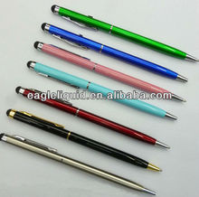 promotion metal black white screen touch crystal thick stylus screen touch pen