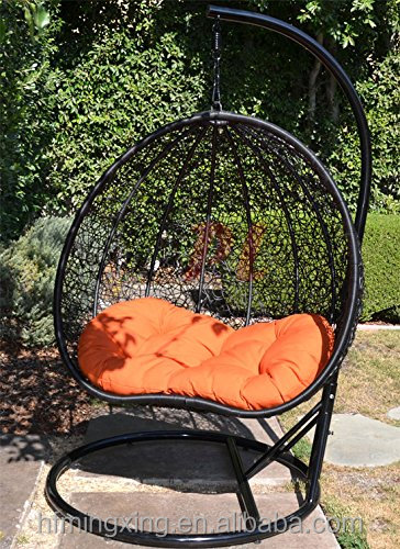 Wicker Rattan Swing Chair Hanging 2 Persons Seater