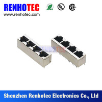 4 8P8C RJ11 RJ45 Terminal Connectors in One Row