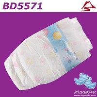 High Quality Good Absorbtion Breathable Double Gusset Pocket Diaper Nappy with BD5571 from China