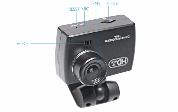 Hiqh quality car dvr driving recorder WDR night vision car front camera/small best hidden camera for cars