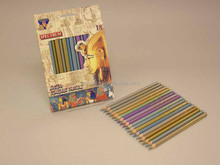 Top quality matte finish 18 colore pencils for young artist