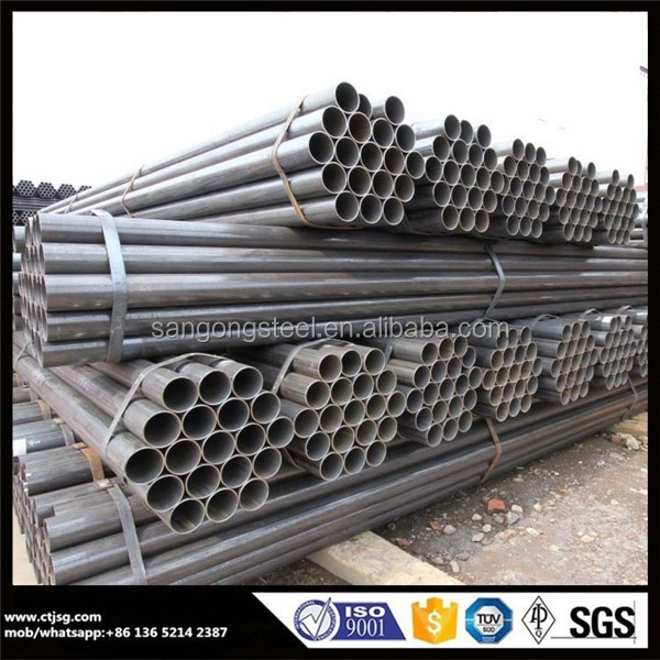 oil and gas ASTM A106 GR.B black seamless carbon steel pipe