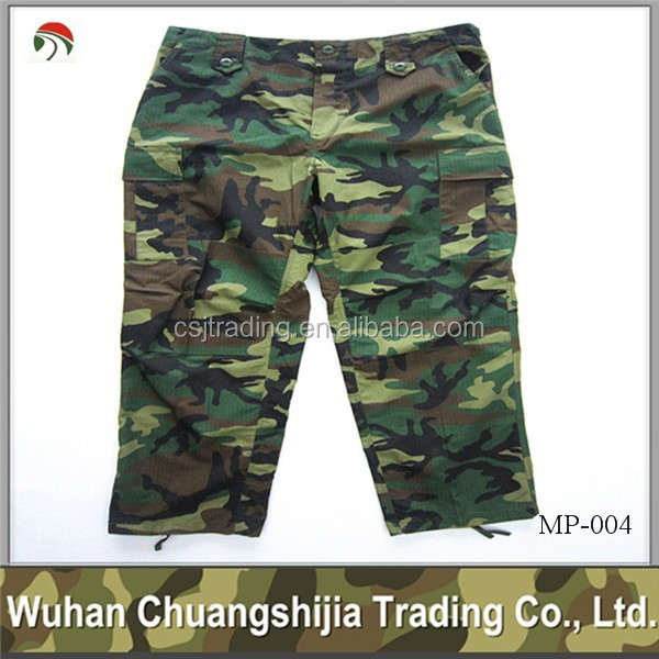 woodland camouflage cargo training pants