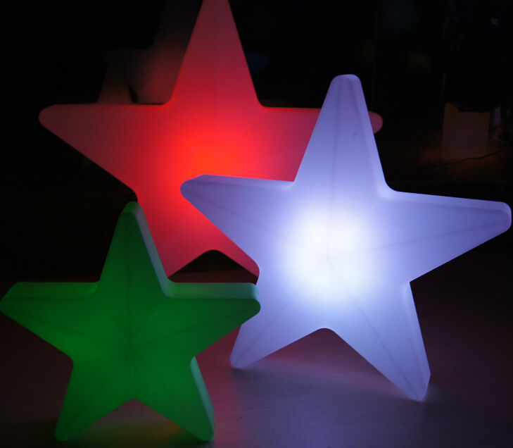 rechargeble color changing led falling star lights for christmas decoration,outdoor christmas star lights