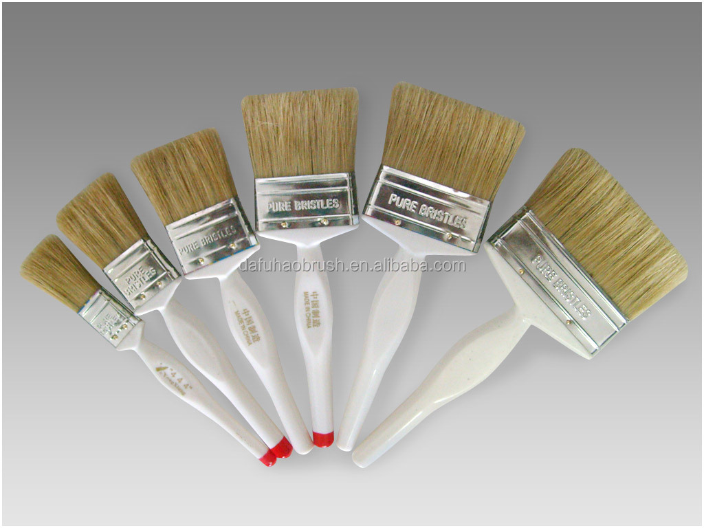 various sizes oil absorbing paint brushes