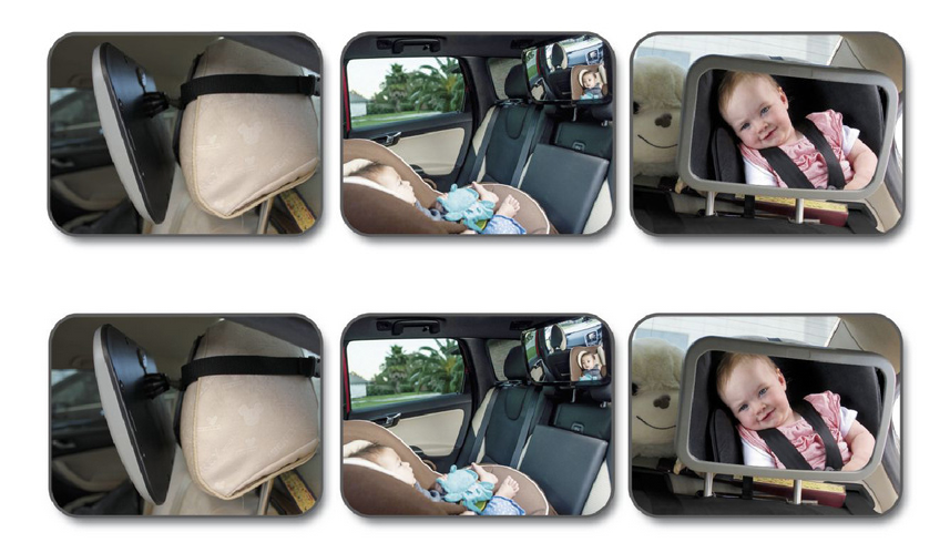 Back Seat Mirror - Rear View Baby Car Seat Mirror - Wide Convex Shatterproof Glass and Fully Assembled - baby car mirror