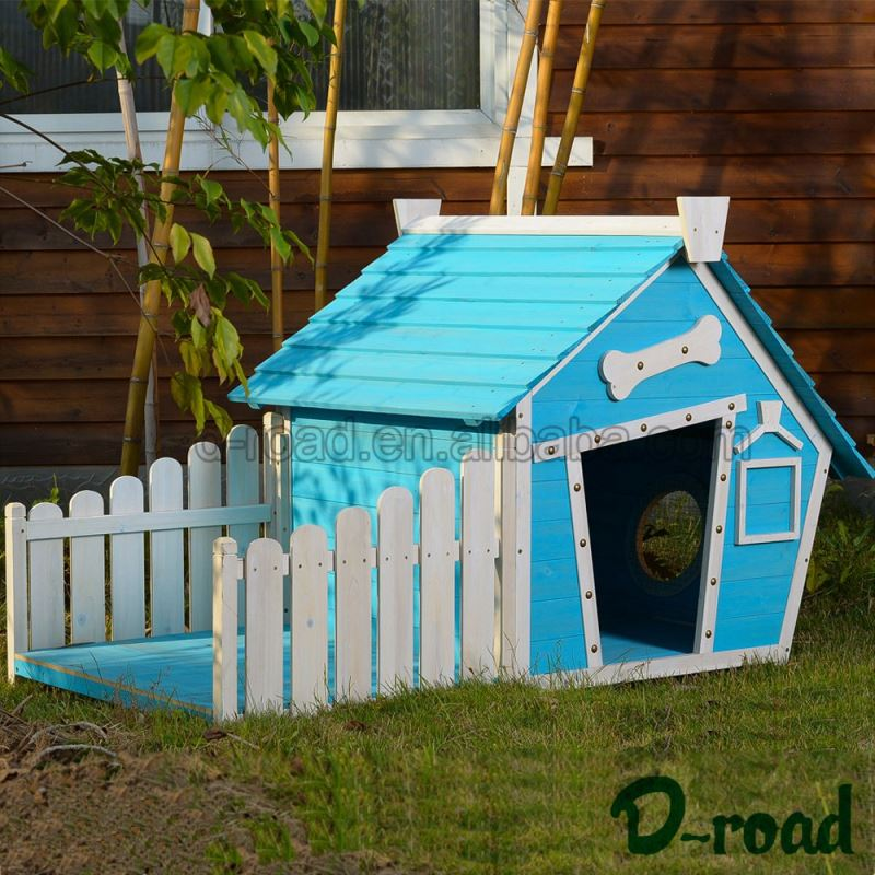 Latest Designs Solid Wood Large Steel Kennel Dog
