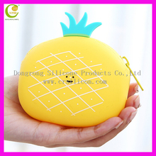 Wholesale Silicone Coin wallets Case Women Customized Silicone Coin Bag Small Fruit Coin Pouch