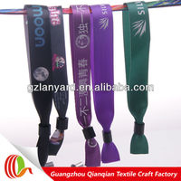 New design polyester sublimated fabric wristbands for circulation